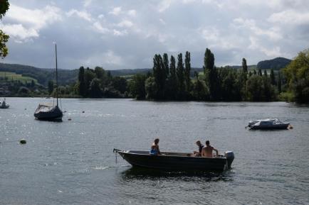 Rheinschwimmen bei Beerlis